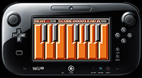 Nintendo Wii U GamePad with KEYTARI 8-bit music keytar piano